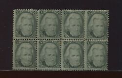 93 Jackson Rare F-grill Mint Block Of 8 Stamps Stock 93 Block 2 By145
