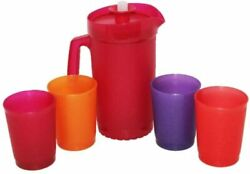 Tupperware 5 Piece Party Play Set Childrenand039s Mini Tumblers And Pitcher Sparkle