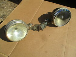 1919-1920's 5 Inch Brass Open Car Clamp-on Windshield Posts Spotlights