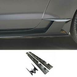 For Ford Mustang 2015-2021 Cmh Dry Carbon Fiber Side Skirts Extension Spoiler