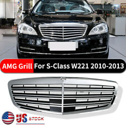 2009-2013 Mercedes Benz Mb S550 S600 S350 W221 Front Hood Grille S63 S65 Style