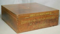 Antique Hardware General Store Advertising Not Seed Box Divided Display Boye Co.