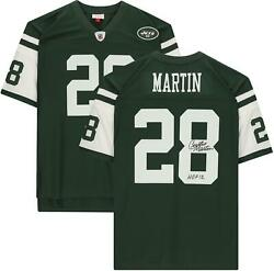 Curtis Martin Ny Jets Signed Mandn Green Replica Jersey And Hof 12 Insc