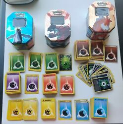 Pokemon Cards Energy Cards Lot Of 529 Cards And 3 Pokemon Tins