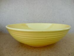 Bauer Pottery Yellow Ringware Low Bowl 12.5 - Nice