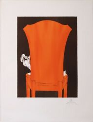 Gruau The Little Dog On The Armchair Circa 1970-80 Vintage Poster