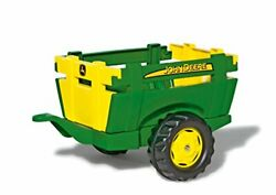 Rolly Toys John Deere Farm Trailer With Detachable Sides For Pedal Tractor You