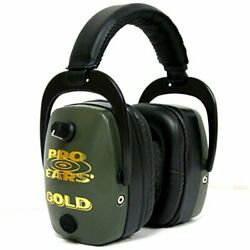 Pro Ears Pro Mag Gold Hearing Protection And Amplification Ear Muffs Green