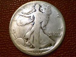 The Joy Of Coin Collecting1917 P Walking Liberty Half Dollar Silver Old 1691
