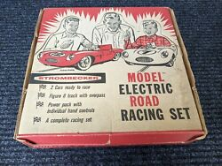 Strombecker 1/32nd Scale Slot Car Race Set - In Box -vintage Toy 1960's