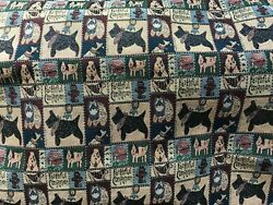 DOG Tapestry Fabric Heavy Upholstery Faithful Companion 60quot; Wide BY THE YARD