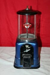 Vintage 1940s Victor Topper 1 Cent Gumball Or Peanut Machine