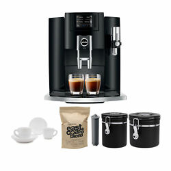 Jura E8 Smart Espresso Coffee Maker With 2 Canisters Coffee And Accessories