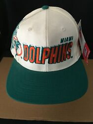 Vintage Sports Specialties Pro Line Miami Dolphins Snapback Hat New With Tag