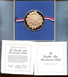 1975 The Franklin Mint Bicentennial Medal By Gilroy Roberts Proof In Box