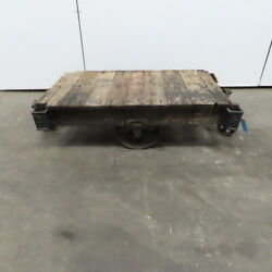 Antique Industrial Factory Warehouse Railroad Coffee Table Cart 27x48x15h