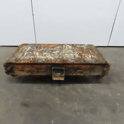 Antique Industrial Factory Warehouse Railroad Coffee Table Cart 25x50x16h