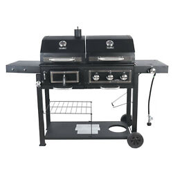 Revoace Dual Fuel Gas And Charcoal Combo Grill Black With Stainless Gbc1793w