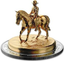 2020 Canada S100 Rcmp Musical Ride Gold Plated 10 Oz Silver W/mint Boxand Coa Ogp