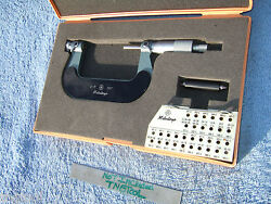 Thread Micrometer 2-3 W/standard No Anvils Mitutoyo 126-139 Over 575 When New