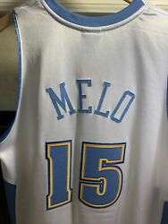 Adidas Authentic Carmelo Anthony Nuggets Jersey 40 L Mitchell Ness Nike Jokic