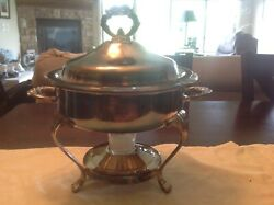 Vintage Buffet Dish Warmer Serving Silver Plated Bowl Container Watterson Family