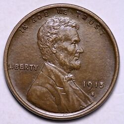 1915-s Lincoln Wheat Cent Penny Choice Unc Free Shipping E573 Rbx