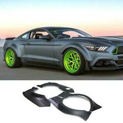 Fit For Ford Mustang 2015-17 Rtr Primer Black Wheel Eyebrow Wide Body Fender 4pc
