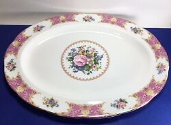 """Royal Albert Lady Carlyle Large Oval Serving Platter 16 3/8"""""""