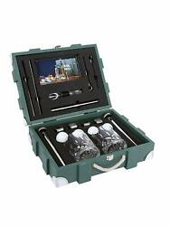 Wooden Travel Bar Sets Portable Bar Sets Military Green Easy Carry Everywhere