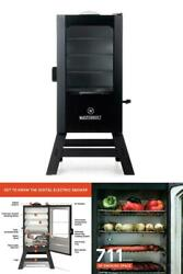 30 Inch Digital Electric Smoker With Window And Legs In Black Digital Panel