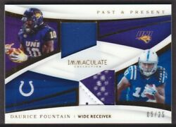 2018 Immaculate Collection Past And Present Pa-38 Daurice Fountain 06/25 Jrsy