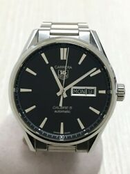 Secondhand Tagheuer Carrera Calibre Day Date Automatic Watch War201a-1 Clothing