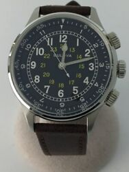 Secondhand Bulova Automatic Watch/analog/leather/blk/brw/96a245 Clothing