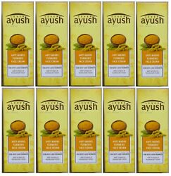 Lot Of 100 Tubes Of Ayush Turmeric Face Cream For Acne Scars And Dark Spot 1.7oz