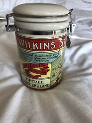 Wilkinandrsquos Strawberry Conserve Ceramic Storage Canister Kitchenalia Collectible