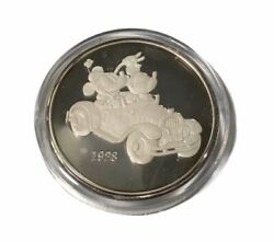 Mickey And Minnie Mouse Disney Studios  5oz .999 Pure Fine Silver Round Coin