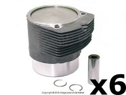 Porsche 911 930 1978-1989 Piston And Cylinder 6 Mahle Oem + 1 Year Warranty