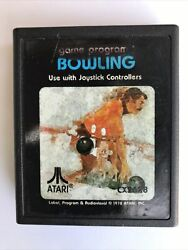 Bowling Vintage Atari Games 1978 No Case And Untested Label Is A Bit Faded, Used