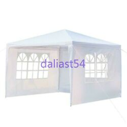 10'x10' Outdoor Heavy Duty Canopy Party Wedding Tent Gazebo Event With 3 Sides