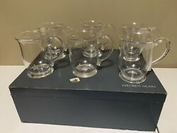 6 Steuben Glass High Ball Beer Mug 5 Signed S ,1 Signed Steuben With Box