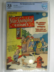 Star Spangled Comics 53, Simon And Kirby, Guardian Cbcs, Vf-, 7.5, White Pages