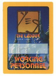 Yes 1999 2000 Ladder Tour Yellow Border WORKING PERSONNEL Backstage Pass