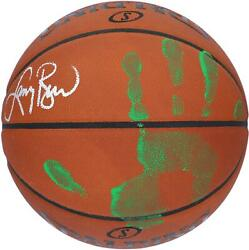 Larry Bird Celtics Signed Official Game Basketball With Green Acrylic Hand Print