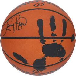 Larry Bird Celtics Signed Official Game Basketball With Black Acrylic Hand Print