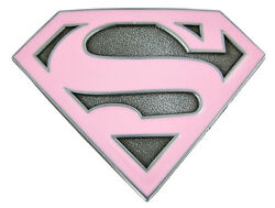 Supergirl Logo Pink Wall Safe Sticker Border Cut Out 6.5 To 10.5 Inch