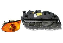 Front Passenger Right Genuine Headlight Turn Signal With Yellow Lens For E38 Bmw