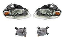 Left And Right Genuine Bi-xenon Dynamic Headlights And Fog Lights Kit For Audi A4