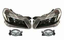 Left And Right Marelli Fog And Bi-xenon Headlights Kit For Mb R230 Amg Pkg Code 772