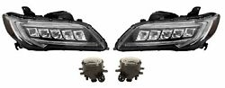Left And Right Genuine Headlights Headlamps And Fog Lights Kit For Acura Rdx 16-18